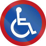 Disabled Parking In Botswana - stock illustration
