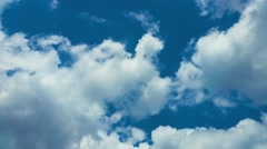 4K Thick Clouds on Blue Sky Background - stock footage