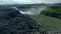 From a Distance GULFOSS WATERFALL,  ICELAND - CIRCA AUGUST, 2014 Stock Footage