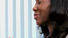business African American Caucasian female office trading corporate executive - stock footage
