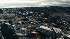 Stock Video Footage of Desolate Rocky Landscape ICELAND - CIRCA AUGUST, 2014