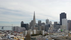 Time lapse from Russian Hill, Vallejo Street Steps Park San Francisco Stock Footage