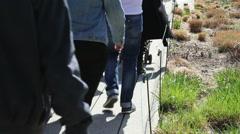 People legs walk on Highline NY - stock footage