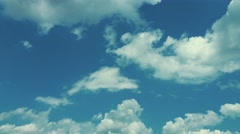 4K White Clouds Background - stock footage
