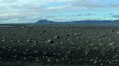 Black Lunar Like Landscape ICELAND - CIRCA AUGUST, 2014 Stock Footage
