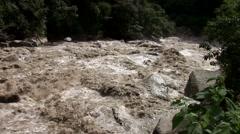Urubamba River in Peru Stock Footage