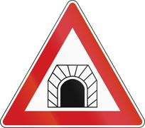 Tunnel Ahead In The Czech Republic - stock illustration