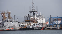 USCGC TAMPA 902 docked in Coast Guard Station Stock Footage