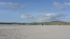 High tide on the  beach of the Isle of Lewis, Hebrides (UK) Stock Footage