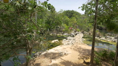 Amazing landscape in the Xel-ha park in Cancun Stock Footage