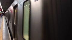 Subway leaving - brazil Stock Footage