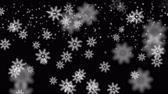 4k Snowflake fall,winter snow background,romantic Christmas particles backdrop. Stock Footage