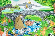 Stock Photo of Disney Cartoon Characters Graffiti