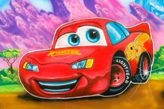 Cars Animated Movie Cartoon Character Graffiti - stock photo
