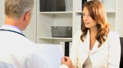 medical clinical healthcare meeting male female doctor business finance research - stock footage