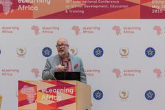 Mark Surman, Executive Director,  Mozilla, delivers a keynote speech Stock Photos