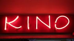 KINO banner Stock Footage