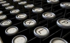 Vintage Typewriter Keys Close Up - stock illustration