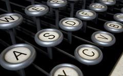Vintage Typewriter Keys Close Up Stock Illustration