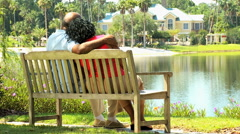 older retirement African American male female leisure healthcare insurance - stock footage