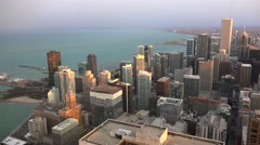 Aerial view of Chicago downtown with the Shore Michigan Lake. Stock Footage