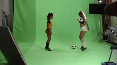 Sexy Soccer Girls Stock Footage