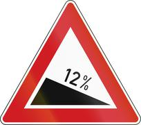 Decline 12 Percent In The Czech Republic Stock Illustration