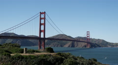 The Golden Gate Bridge in San Francisco Stock Footage
