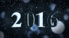 Year 2016, New year numbers with glowing background (seamless) Stock Footage