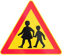 Watch Out For Children in Finland - stock illustration