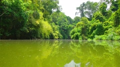 Boating Nature in tropical forests. Stock Footage