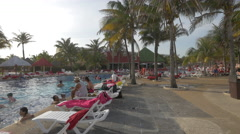 Great afternoon at Grand Oasis Cancun Stock Footage
