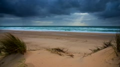 Sea, Sand and Dunes-Time Lapse Stock Footage