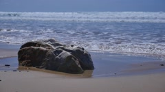 Sea, Sand and Rocks, Normandie, France Stock Footage