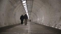 Greenwich Foot Tunnel, London | HD 1080 Stock Footage