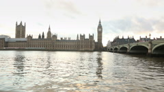 Big Ben and Westminster palace at sunset, time lapse - stock footage