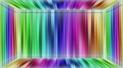 Rainbow lights title plate loop  Stock Footage
