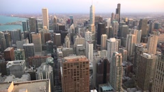 Aerial view of Chicago downtown. Stock Footage