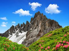 Dolomite Alps , Italy  - stock photo