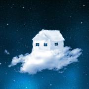 The house from clouds  Stock Photos