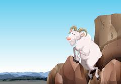 White goat Stock Illustration