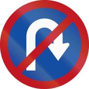 No U-Turn in Botswana - Old Design - stock illustration