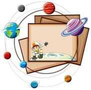 Solar system - stock illustration