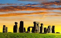 Historical monument Stonehenge - stock photo