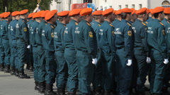 Russian Army At The Military Parade On Victory Day Stock Footage