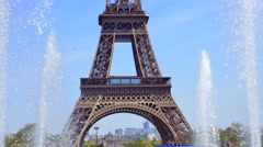 France, Paris, View to Eiffel Tower Stock Footage