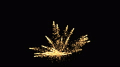 4k Abstract color flame firework background,holiday explosions particle backdrop Stock Footage