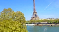 France, Paris, View to Eiffel Tower - stock footage