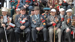 Veterans Of World War II, Military Medals, Victory Day, Russia Stock Footage