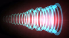 4k Abstract circle ring ripple pulse laser,sound tunnel,wireless Internet data. Stock Footage